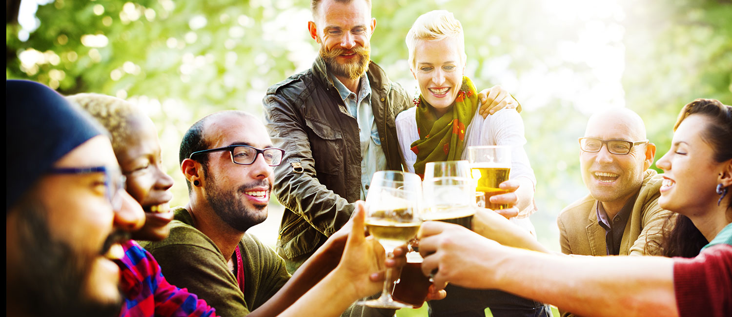 CELEBRATE WITH FRIENDS IN OUR GARDEN PATIO
